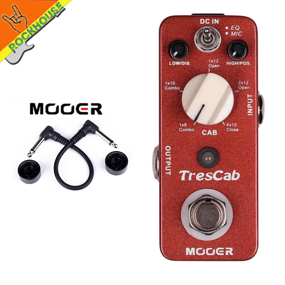 buy mooer trescab guitar cabinet simulator pedal simulate 1x8 39 39 1x10 39 39 1x12. Black Bedroom Furniture Sets. Home Design Ideas