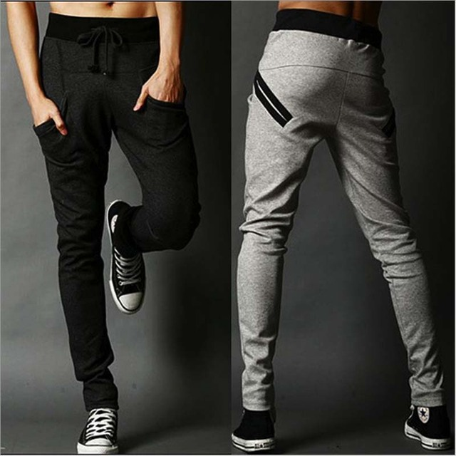 2016 super deal solid casual pants pantalon homme hombre harem pants leggings sweat Men trousers male Joggers pantacourt homme