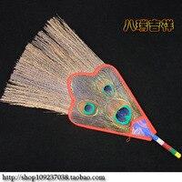 Nepal handicrafts / Tibetan Buddhist supplies / reineckea three eye peacock feather/vumba pot, vumba fan