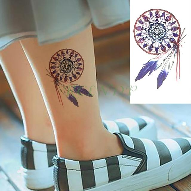 Dream Tatouage waterproof temporary tattoo sticker dreamcatcher fake tatto feather