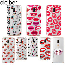 ciciber Sexy lips Phone Case For Oneplus 7 Pro 6 5 T Soft TPU Back Cover Clear Coque for 1+7 Pro 1+ 6 1+5 T Fundas Shell Coque