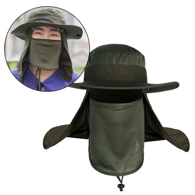 2e413f95 Outdoor Sunscreen fishing suns anti uv daiva Protection Face Neck Flap Sun  Cap Headband Sun Rain Hat Cap Fishing Hiking KOL9305