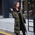 2016 Novo estilo Da Ucrânia e Da rússia feminino das mulheres de inverno grande plus size grosso casaco de lã para baixo casaco feminino