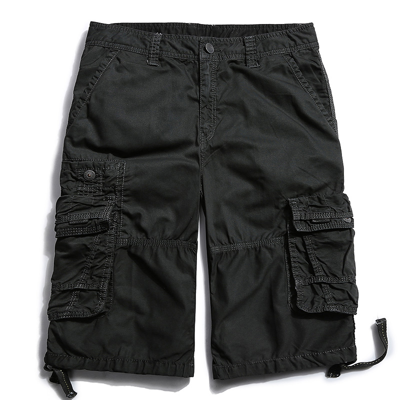 Image 5 - 2018 Cargo Shorts Men Fashion Beach Military Army Casual Combat New Brand Multi Pockets Clothing Solid Color Cotton Plus Size F9Casual Shorts   -
