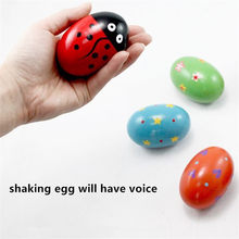 Ovo de madeira para crianças, instrumento musical de percussão para bebês, presente divertido e presente para crianças, 1 peça