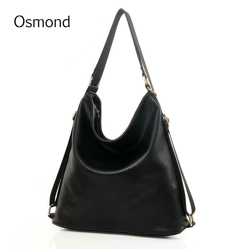 Osmond Women Shoulder Bags Handbag Messenger Bag Bucket Leather Fashion Multifunction Crossbody For W цена