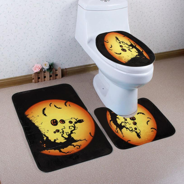 3 stks/set Halloween Thema Badkamer Set Tapijt Absorberende Antislip ...