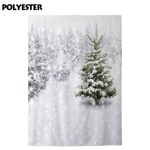 Image 3 - Funnytree photo studio background winter wonderland white snow trees frozen outdoor photography backdrops christmas photocall