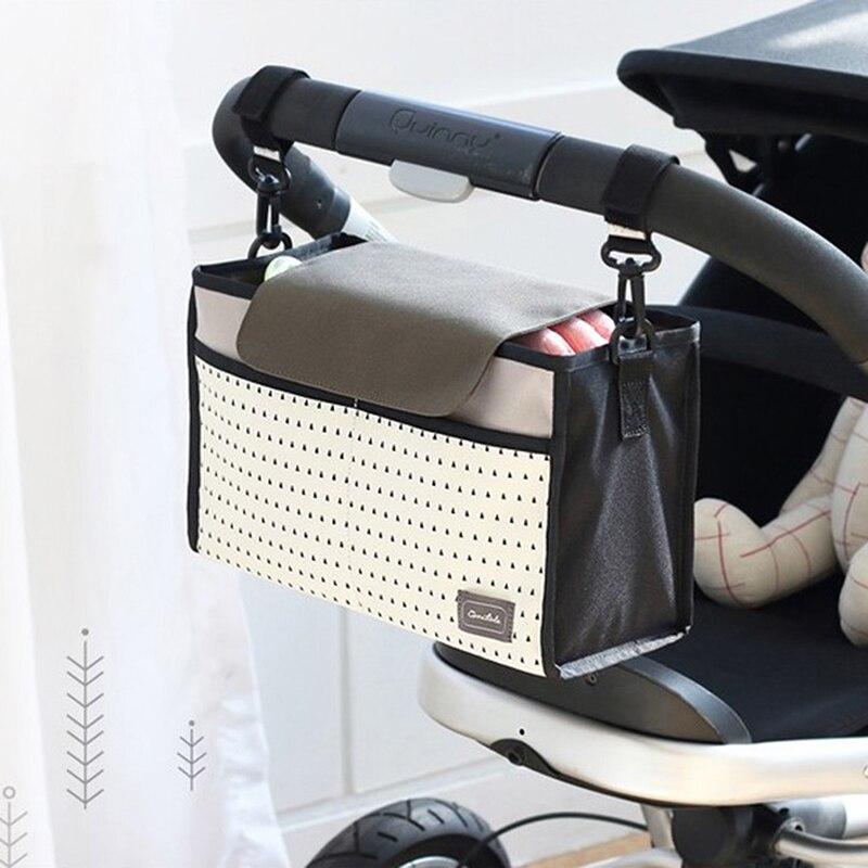 HTB1f76pKbuWBuNjSszgq6z8jVXaO Baby Stroller Bag Nappy Diaper Mummy Bag Hanging Basket Storage Organizer Baby Travel Feeding Bottle Bag Stroller Accessories