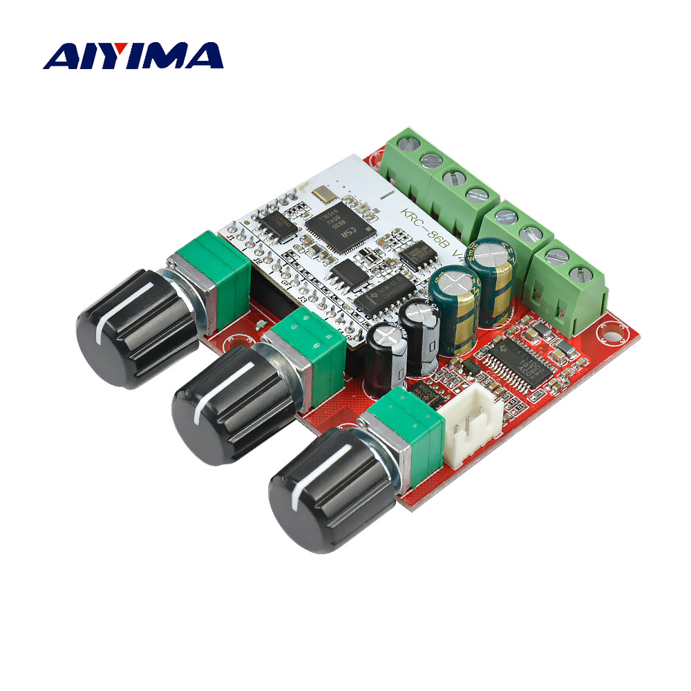 Aiyima TPA3110D2 Subwoofer Bluetooth Amplifier Board 2.1 Channel TPA3110 Active Digital Audio Amplifiers 15W*2+30W aiyima hi fi pam8610 audio amplifier board 15w 2 class d dual channel digital amplifier board dc12v