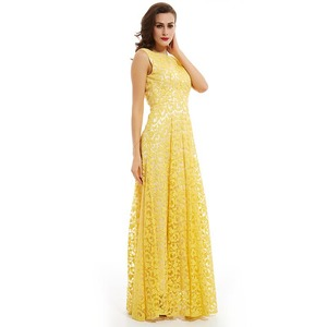 Image 3 - Dressv 수선화 긴 이브닝 드레스 저렴한 특종 목 appliques backless 라인 웨딩 파티 공식 드레스 이브닝 드레스
