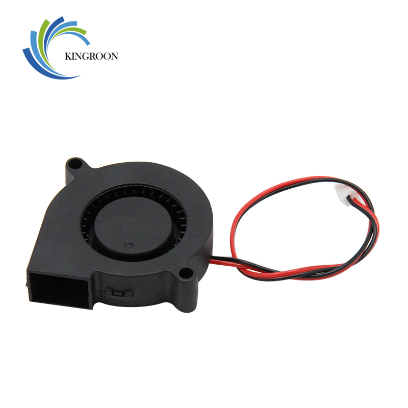 5015 12V Cooling Turbo Fan Brushless 3D Printer Parts 2Pin For Extruder DC Cooler Blower 50x50x15mm Part Black Plastic Fans 2 9733 blower cooling fan 12 volt brushless dc fans centrifugal turbo fan cooler radiator
