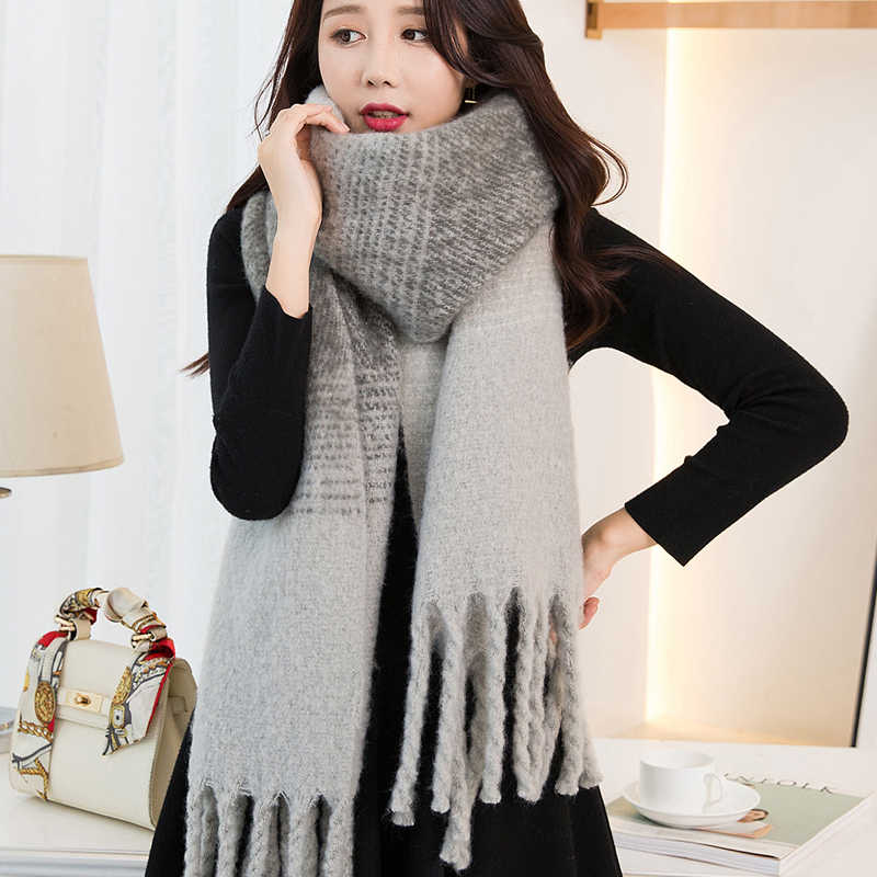 084148456 ... 2019 Winter Scarf for Women Cashmere Scarves Shawls Soft Scarf for Women  Wool Pashmina Winter Warm