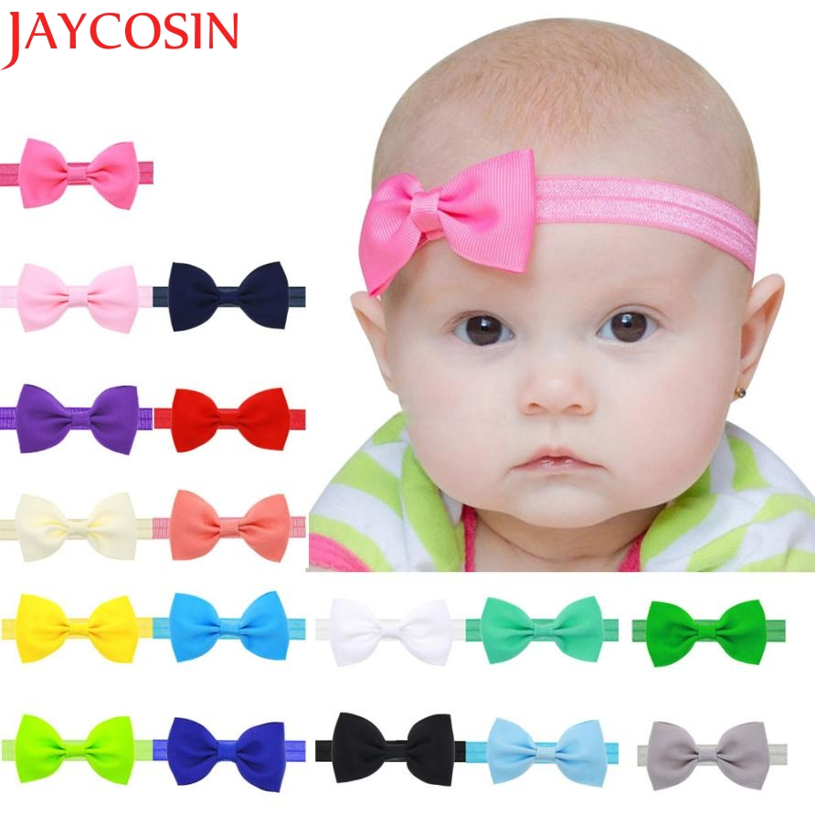 2016 Multicolor Bowknot Mini Headbands girl hair accessories Girl headband cute hair band newborn floral headband LS25 цены онлайн