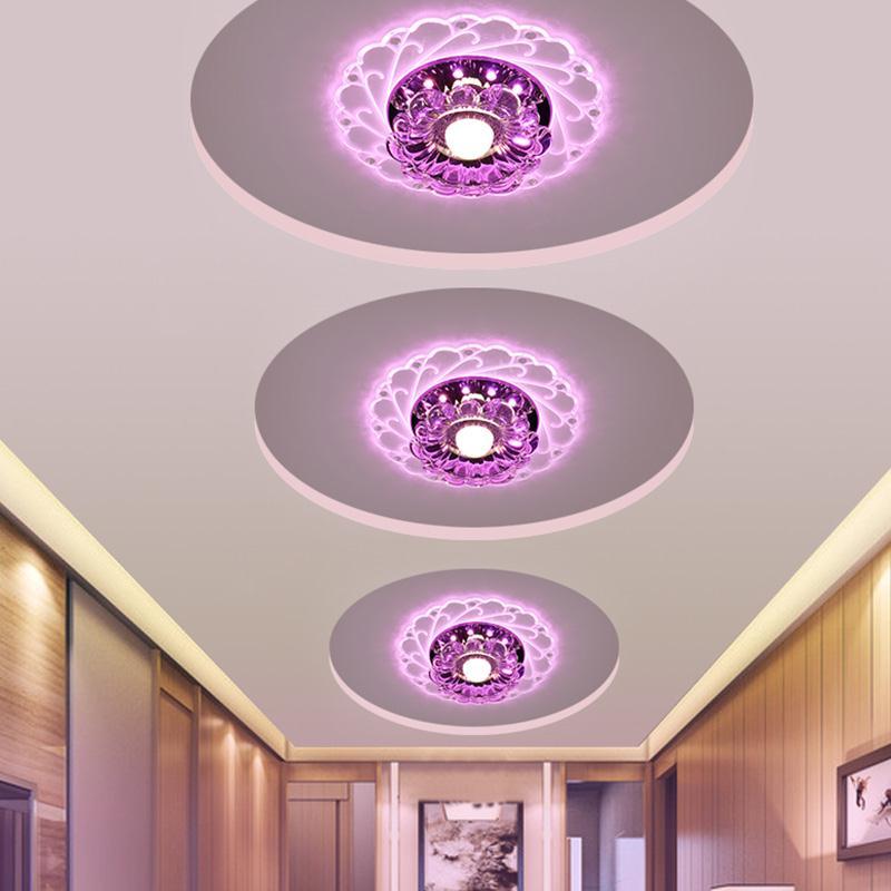 Indoor Led Kronleuchter Lila Licht Decke Moderne Lampe Veranda Beleuchtung Schlafzimmer Wohnzimmer
