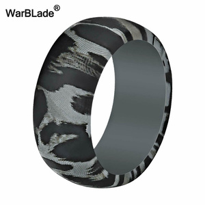 Image 2 - New Leopard Print Silicone Rings For Men Wedding Rubber Bands Hypoallergenic Flexible Sports Antibacterial Silicone Finger Ring