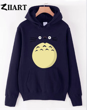 My Neighbor Totoro cartoon character face belly couple clothes girls woman female autumn winter cotton fleece hoodies()