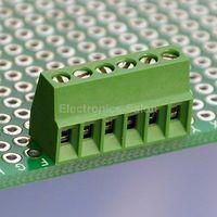 100pcs 6 Poles 2.54mm/0.1 PCB Universal Screw Terminal Block