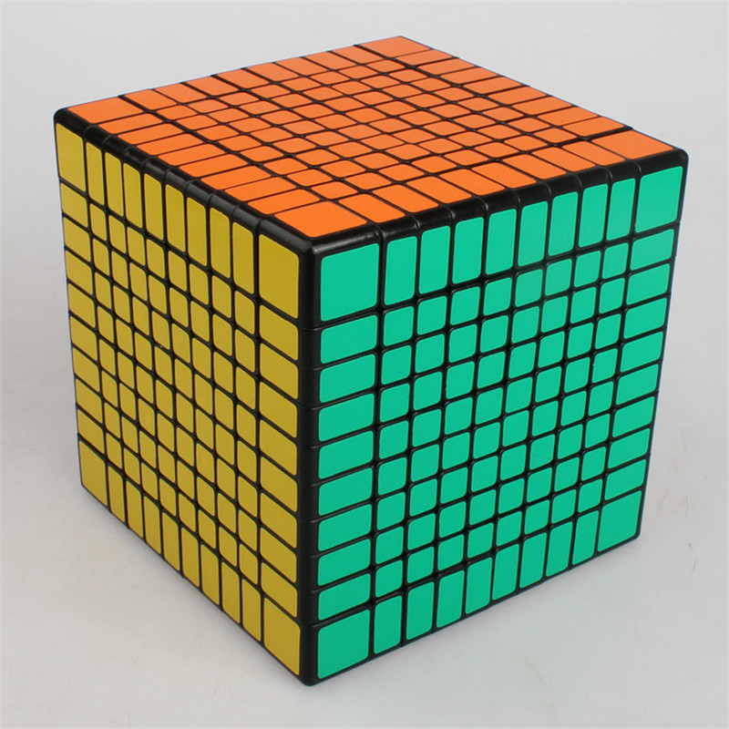 Cube magique éducatif Rubike 10*10*10 Puzzle Cubes jeux professionnel Anti-Stress Anti-Stress jouets pour enfants enfants adultes