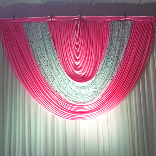 Silver sequin hot pink wedding backdrop swags stage curtains wedding silver sequin hot pink wedding backdrop swags stage curtains wedding decoration events and party supplier china junglespirit Choice Image