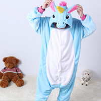 Children Kid Unisex Pajamas Animal Cosplay Costume Unicorn Onesie Sleepwear Suit Gift For Girls Boys