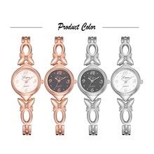 2019 Mais Recente Moda Feminina Relógios Vestido Da Senhora Relógio de Pulso Alloy Pulseira Relógio de Quartzo Relógio Relogio feminino Reloj Mujer