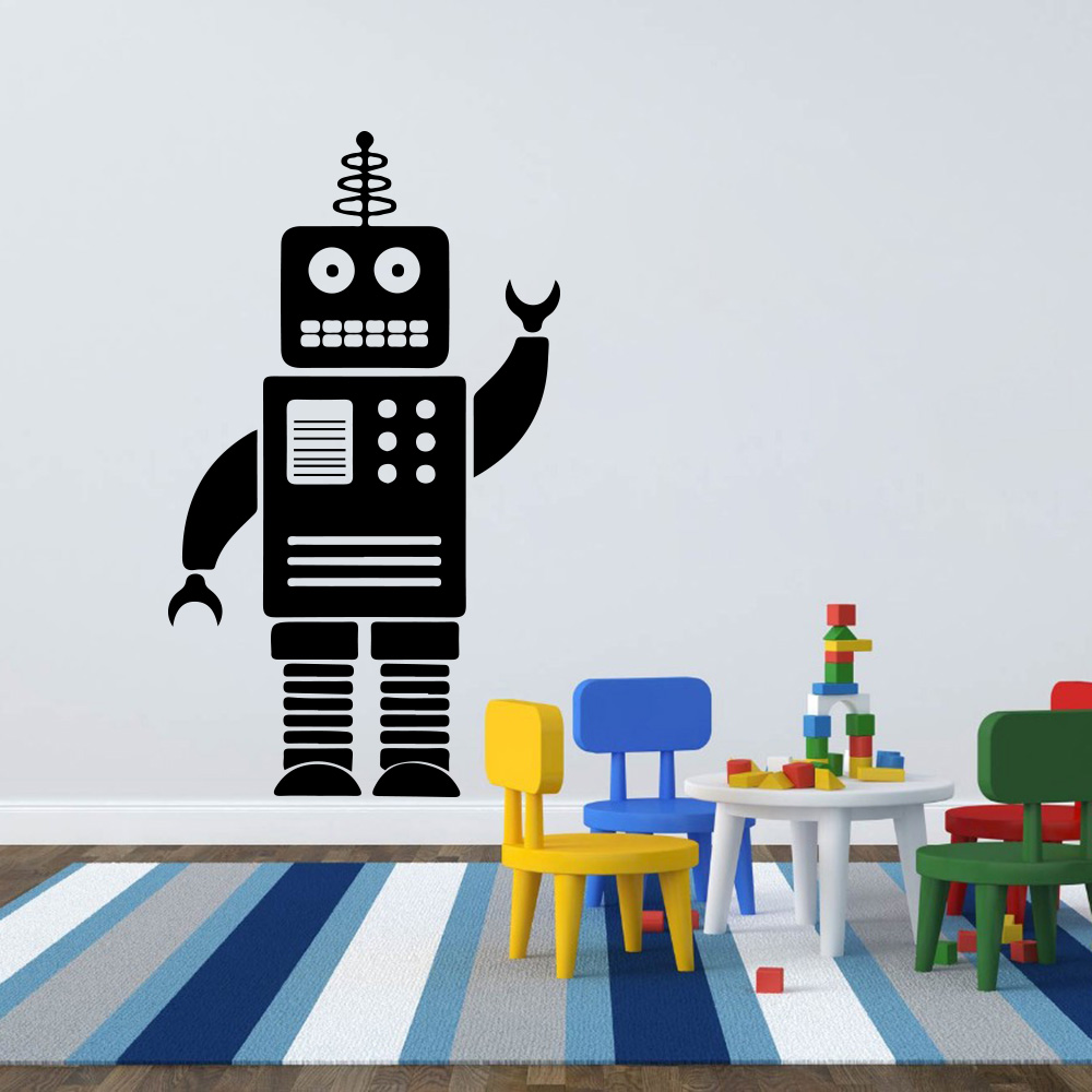 Online Shop Cartoon Robot Wall Sticker Boy Room Baby Nursery Cute Lego  Robot Wall Decal Kids Room Children Room Vinyl Home Decor Art Mural |  Aliexpress ... Part 60
