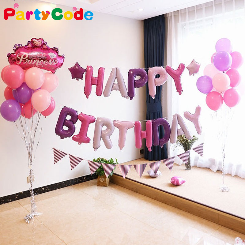 Happy Birthday Alphabet Balloon 18 <font><b>30</b></font> Birthday Letter Foil Ballon Baby Shower Birthday <font><b>Party</b></font> DIY <font><b>Decoration</b></font> Kids <font><b>Party</b></font> Supplier image
