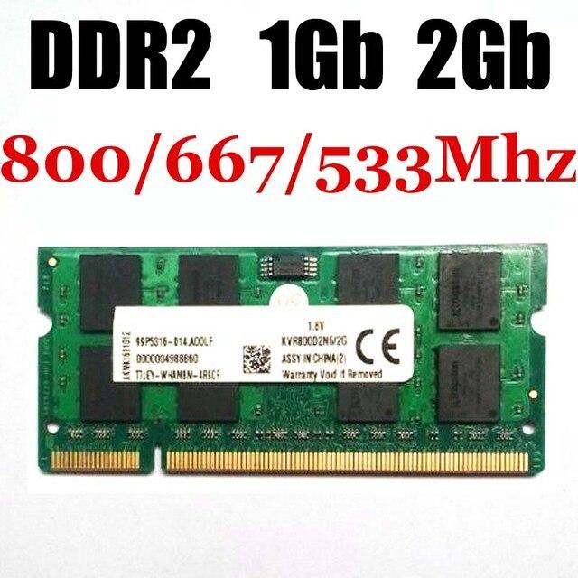 Laptop de memória RAM sodimm 1 Gb de memória DDR2 de 1 Gb 2 Gb 533 Mhz 667 Mhz 800 Mhz -- garantia vitalícia... boa qualidade