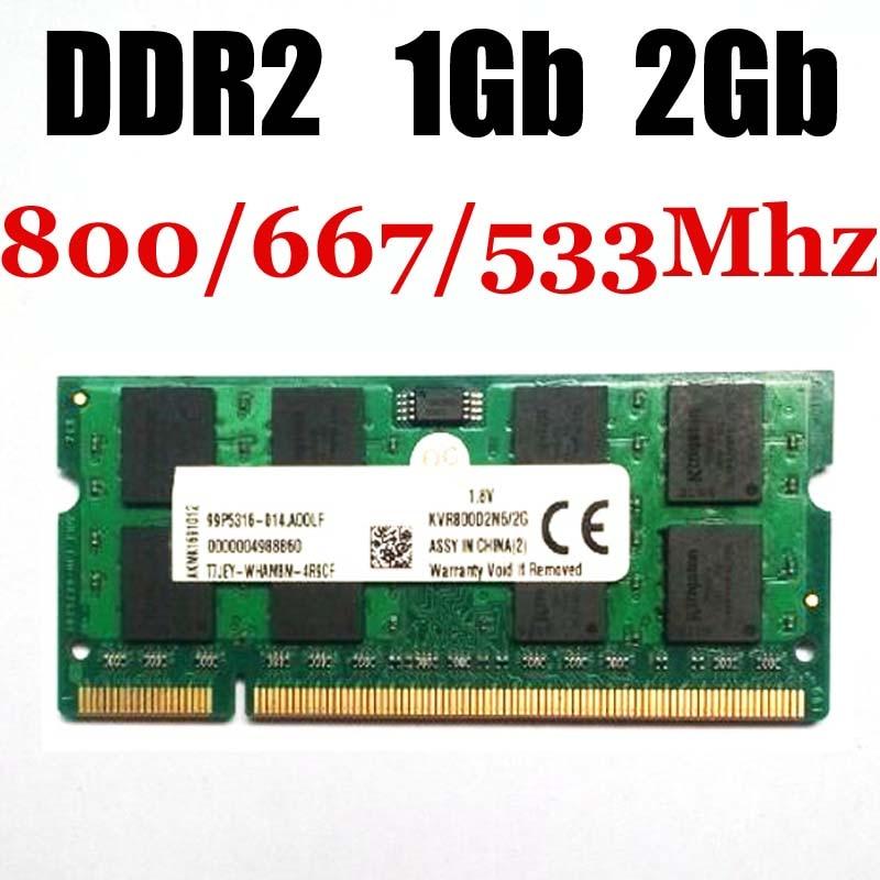 laptop sodimm RAM 1Gb geheugen DDR2 1Gb 2Gb 533Mhz 667Mhz 800Mhz - levenslange garantie - goede kwaliteit