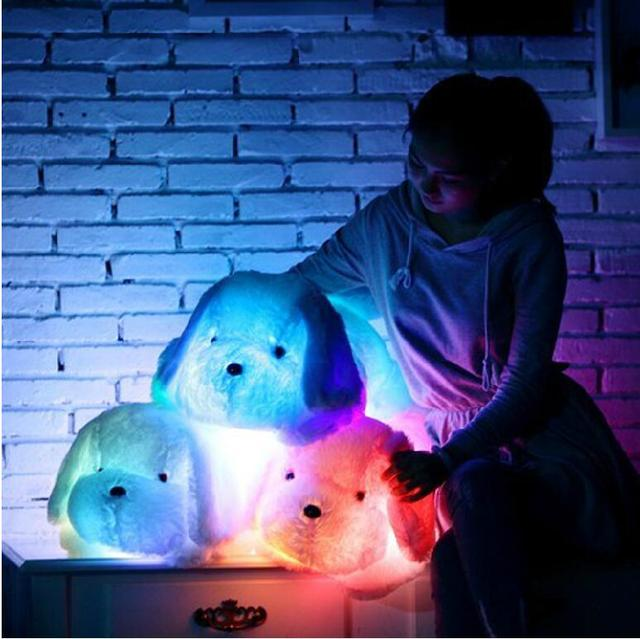 50cm Colorful LED Glowing Dogs Luminous Plush Children Toys