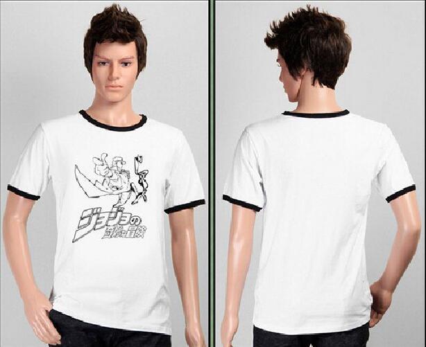 Free shipping JoJo's Bizarre Adventure Stardust Crusaders Kujo Jotaro t-shirt costume