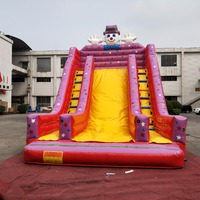 Outdoor giant inflatable dry slide,inflatable giant slide for kids playground