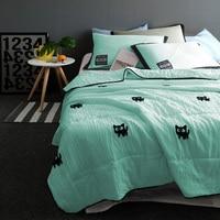 3/4 piece New Summer Quilt 180x210cm / 200x230cm Bedspread Quilted Print Throws Blanket Summer Thin Comforter Stiching Duvet Qui