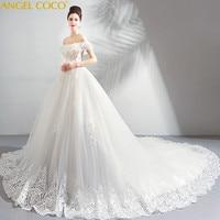 Французский платья для беременных девушка мечтательная лепесток пряжи беременной невесты слово плечо большой хвостохранилища свадебное п