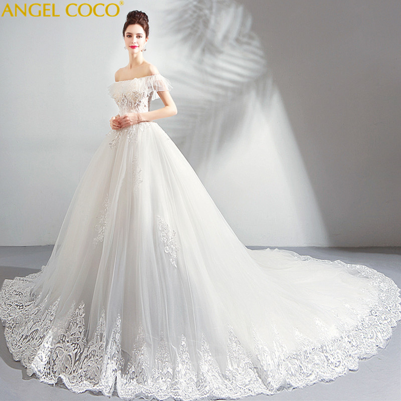 1a1e88229e9b0 French Maternity Dresses Girl Dreamy Petal Yarn Pregnant Bride Word Shoulder  Big Tailing Wedding Dress Robes De Maternite