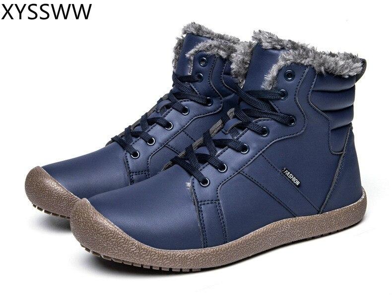 2018 Heißer Verkauf Männer Stiefel Mode Männer Warme Schnee Stiefel Outdoor Sports Weiche Gleitschutz Schnee Stiefel Plus Größe 39- 48