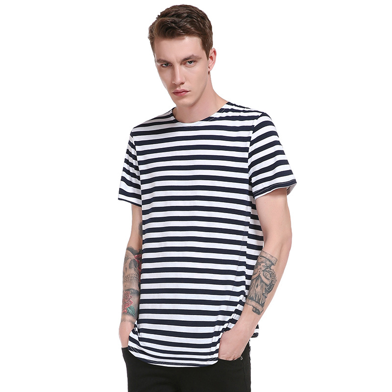 ed8f7a24fa T Shirt Men 2018 Summer Style Striped Design Casual Tshirt Male Short  Sleeve Hip Hop Comfortable Fashion T shirt Men S 2XL-in T-Shirts from Men s  Clothing ...