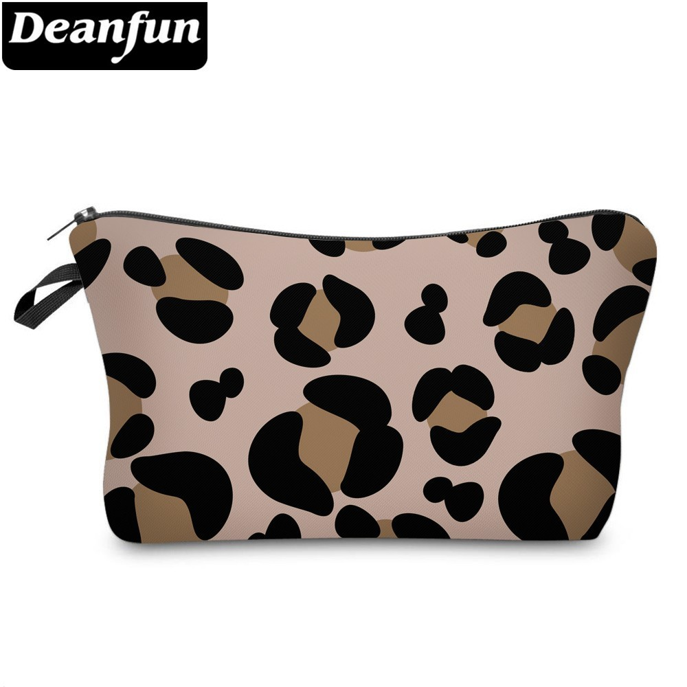 Deanfun Leopard Cosmetic Bag Waterproof Printing Makeup Travel Bag Customize Style For Travel 51503