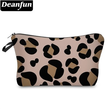 Deanfun Leopard Cosmetic Bag Waterproof Printing Makeup travel Customize Style for Travel 51503