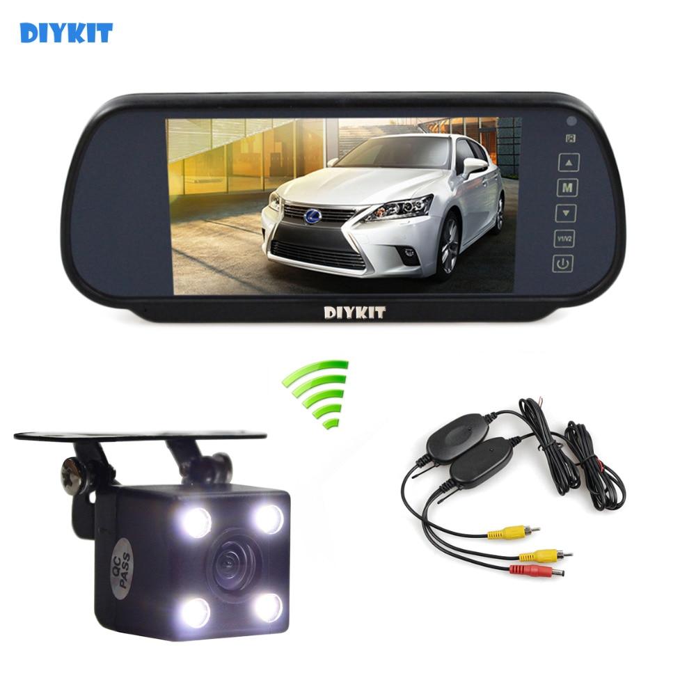 DIYKIT 7 inch TFT LCD Display Car Mirror Monitor LED Night Vision Rear View Car Camera