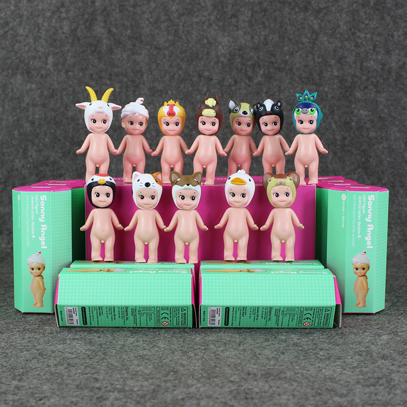купить 12Pcs/Set Kewpie figures Doll Sonny Angel figure toy Mini Laduree Collection PVC Dolls Toys