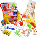 Simulation Doctor Toys Medicine Box Suit Baby Stethoscope  Drip Injections Toys for Children