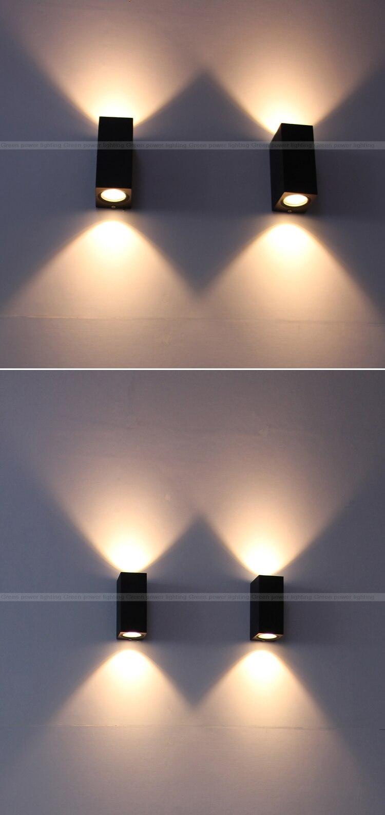 Oświetlenie Zewnętrzne Out Drzwi ściany światła Led Cob Balkon Kinkiet Led 6 W Ciepłe Whtie Zimne Białe