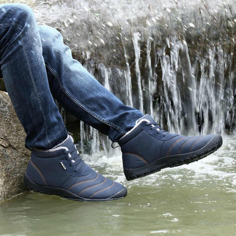 727306c345cf ... SAGUARO Men Winter Snow Shoes Man Boot Lightweight Ankle Boots Warm  Waterproof Mens Rain Boots Ankle