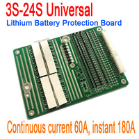 3S 24S 60A 18650 Lithium Li ion Battery Protection Board instant 180A w/ Balance 4S 5S 6S 7S 10S 12S 13S 14S 16S 20S 21S 22S 23S