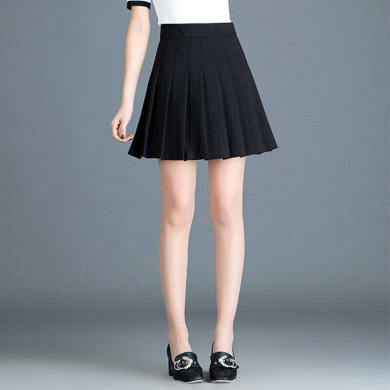 Las Negro Alta Moda De Impresión Mujer Falda 2019 Invierno Nuevo Faldas Mujeres Otoño Mini Línea Caliente Cintura TpFrq4Tx