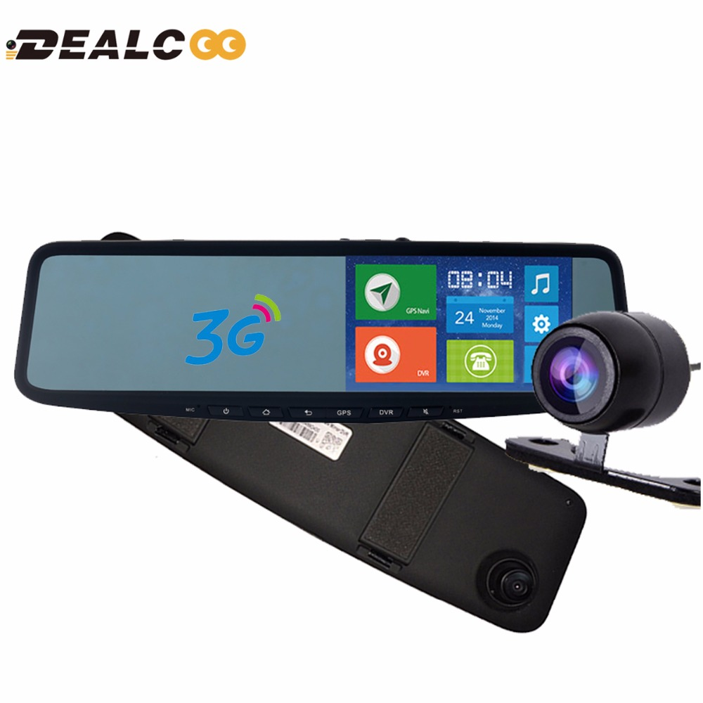Dealcoo JC600 5 inch Car GPS Navigator Android DVR mirror Bluetooth 1G DDR sat nav Europe RU US Israel Google Maps Free Car DVR