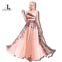 W101 Gerçek Fotoğraflar Sıcak Satış A-Line Sweetheart Kat Uzunlukta Şifon Çiçekler Desen Uzun Gelinlik Modelleri 2017 Vestido De Festa