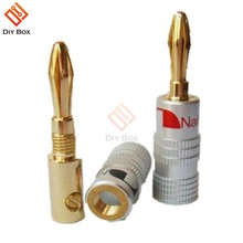 24K Vergulde Voor Nakamichi Speaker Banana Plug Zuiver Koper Audio Jack Sound Connector Tussenliggende Audio Connector(China)